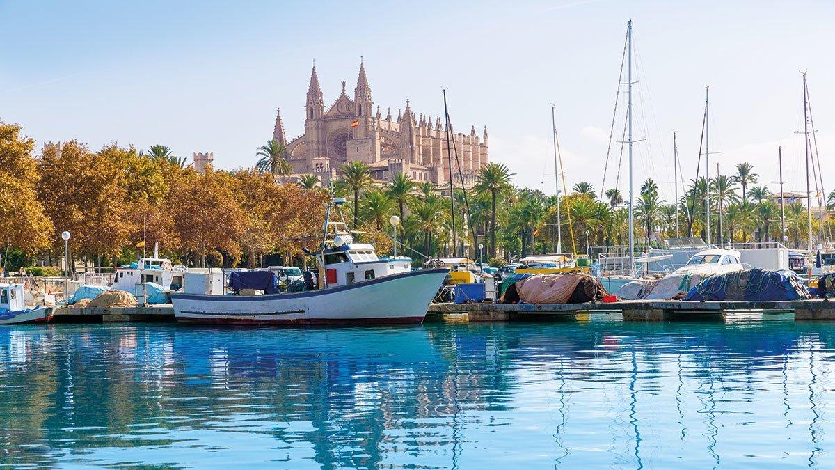 Boote im Hafen von Port Marina auf Mallorca