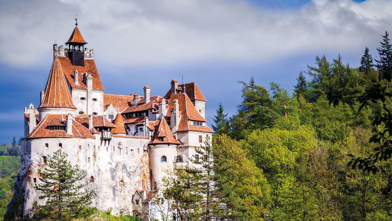 Schloss Bran bei Sonnenschein
