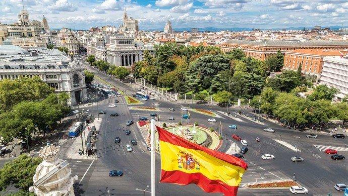 Flugreise nach Madrid