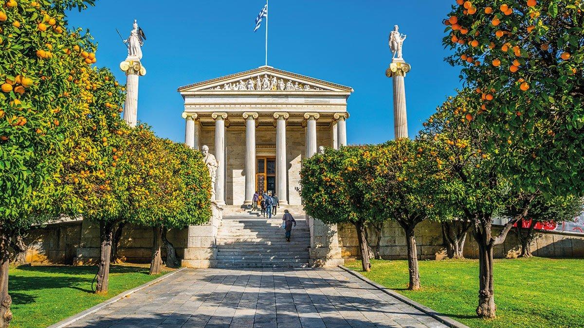 Eingang zur Akademie in Athen