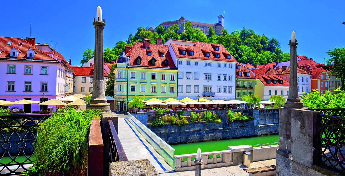 Ljubljanas Stadtansicht