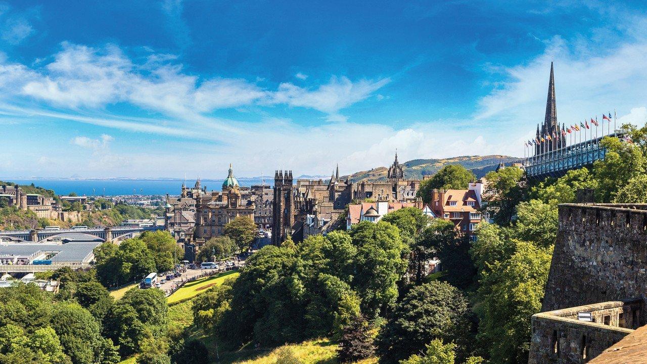 Edinburgh Panorama Stadtansicht