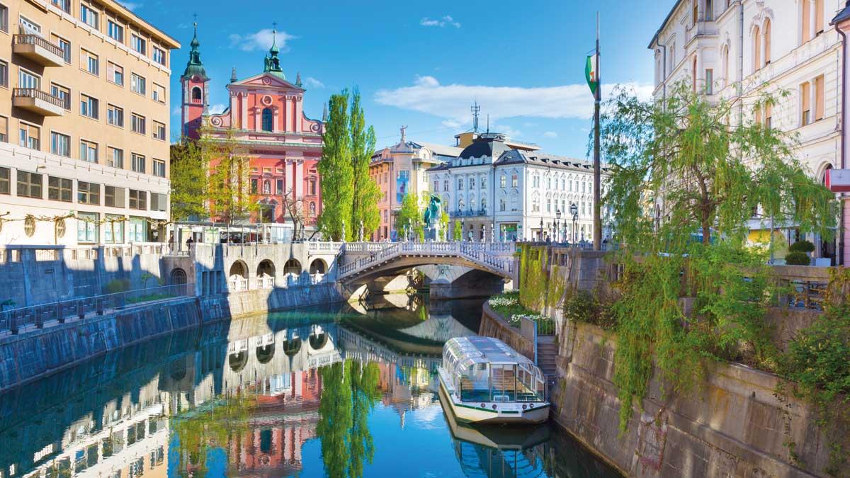 Stadtansicht Ljubljana