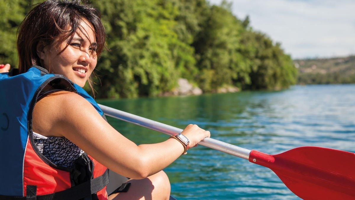 Kanucamp Weser Mädchen im Kanu