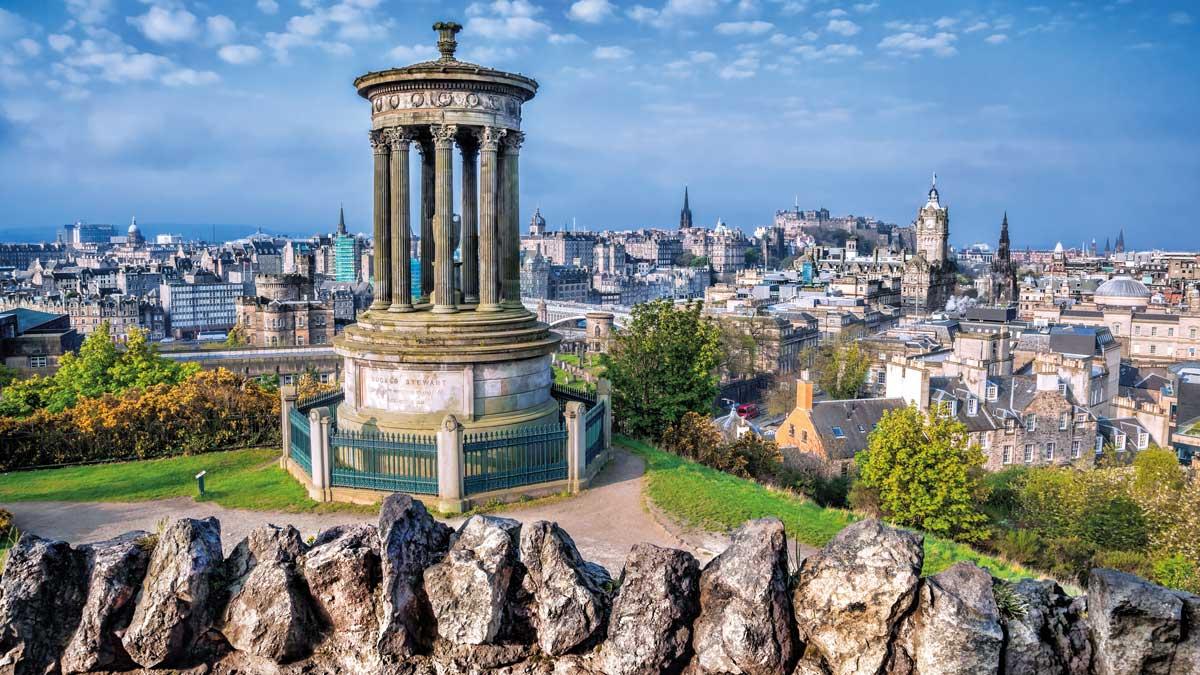 Edinburgh Calton Hill Stadtansicht