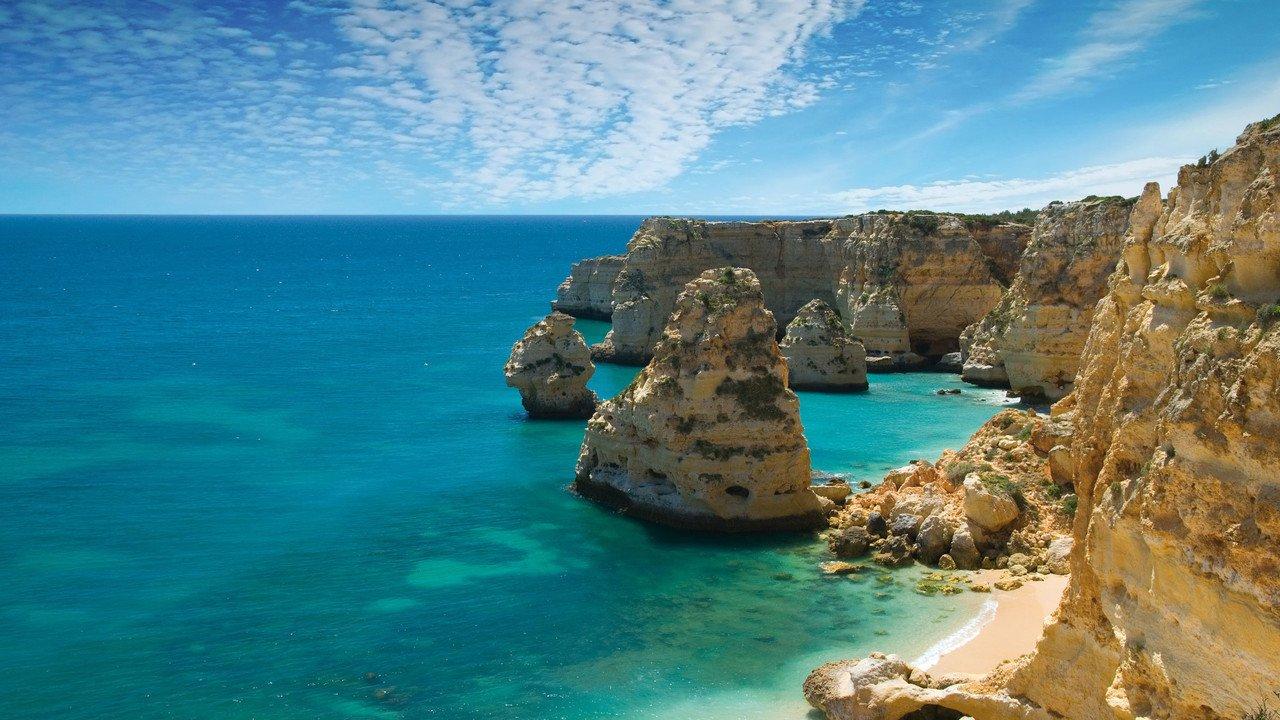 Küste in Portugal Landschaft Marinha Cove