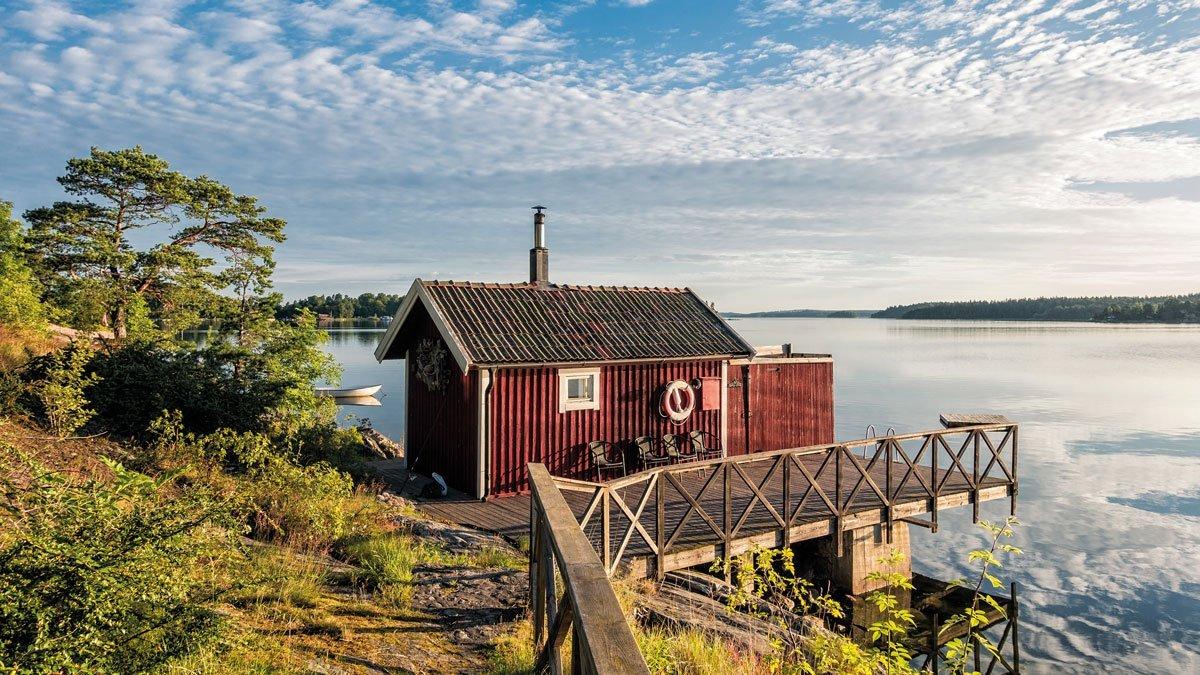 Haus an der schwedische Schärenküste