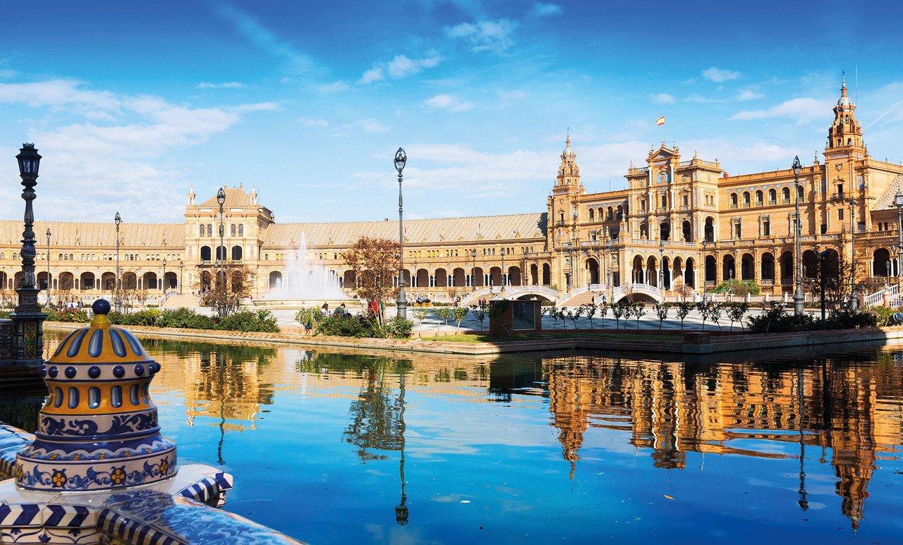 Blick auf die Sevilla Plaza de Espana