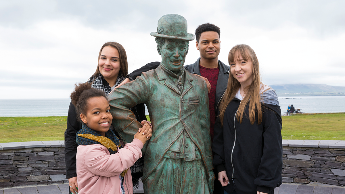 Schülergruppe im Killarney Nationalpark