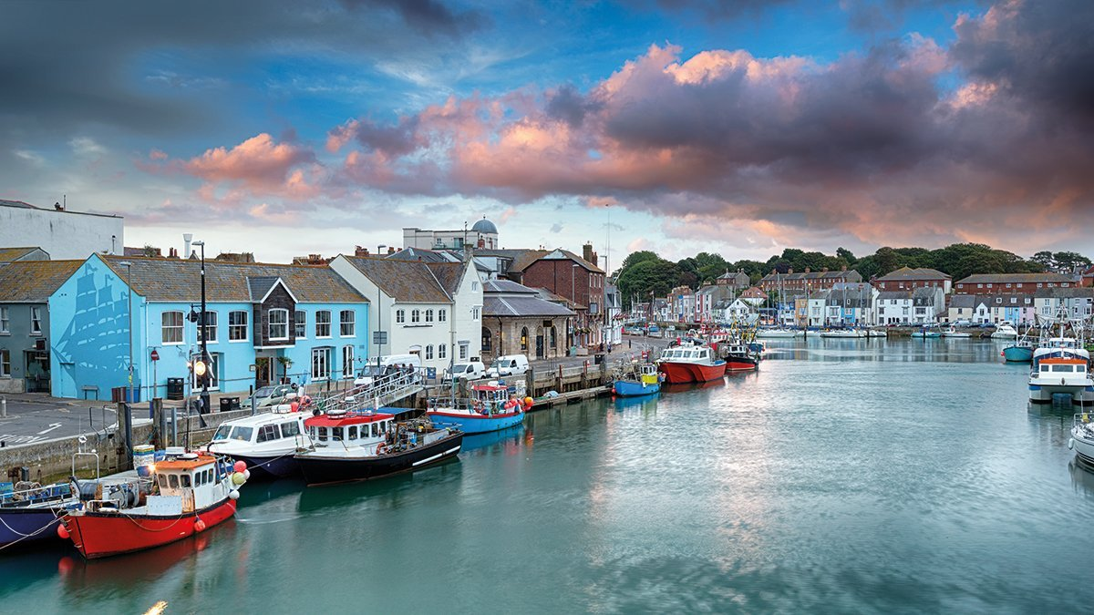 Cornwall Weymouth Hafen
