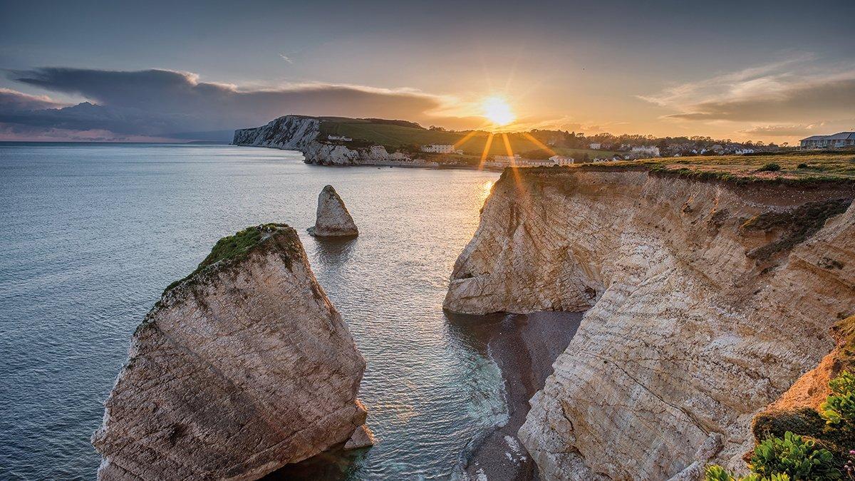 Kalkfelsen vor der Isle of Wight