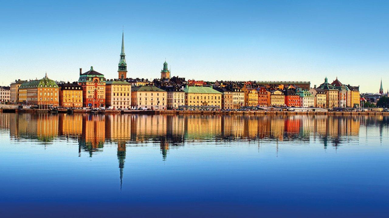 Stadtansicht Stockholm vom Wasser aus