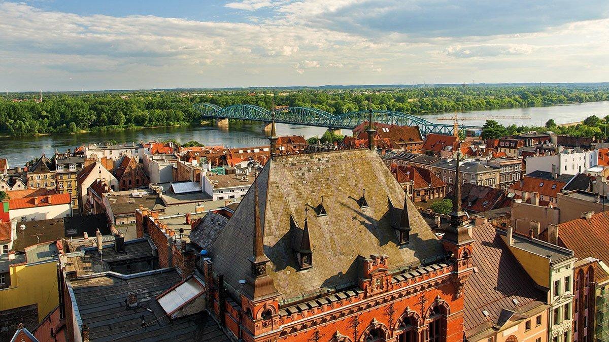 Panorama von Torun in Polen