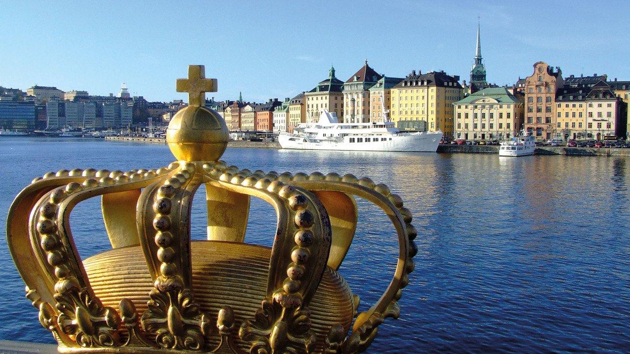 Stockholm Stadtansicht mit Krone