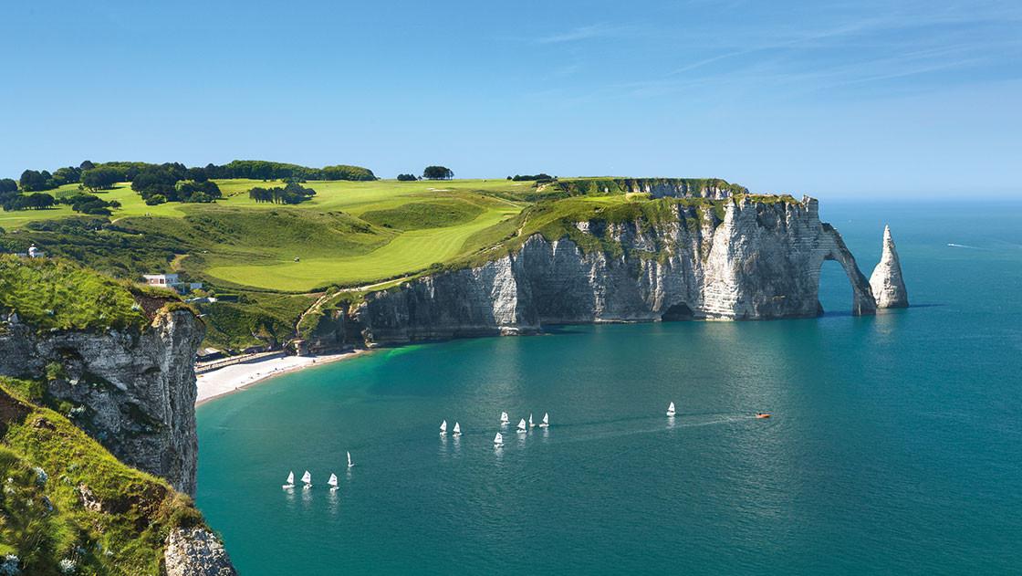 Bildschöne Küste in der Normandie