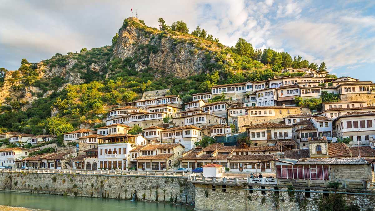 Altstadtansicht Berat in Albanien