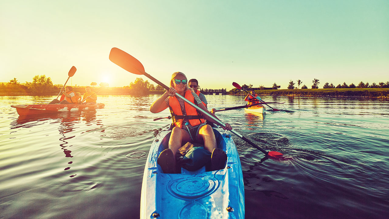 Kanu fahren auf dem Starnberger See