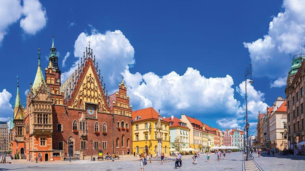 Blick in polnische Altstadt