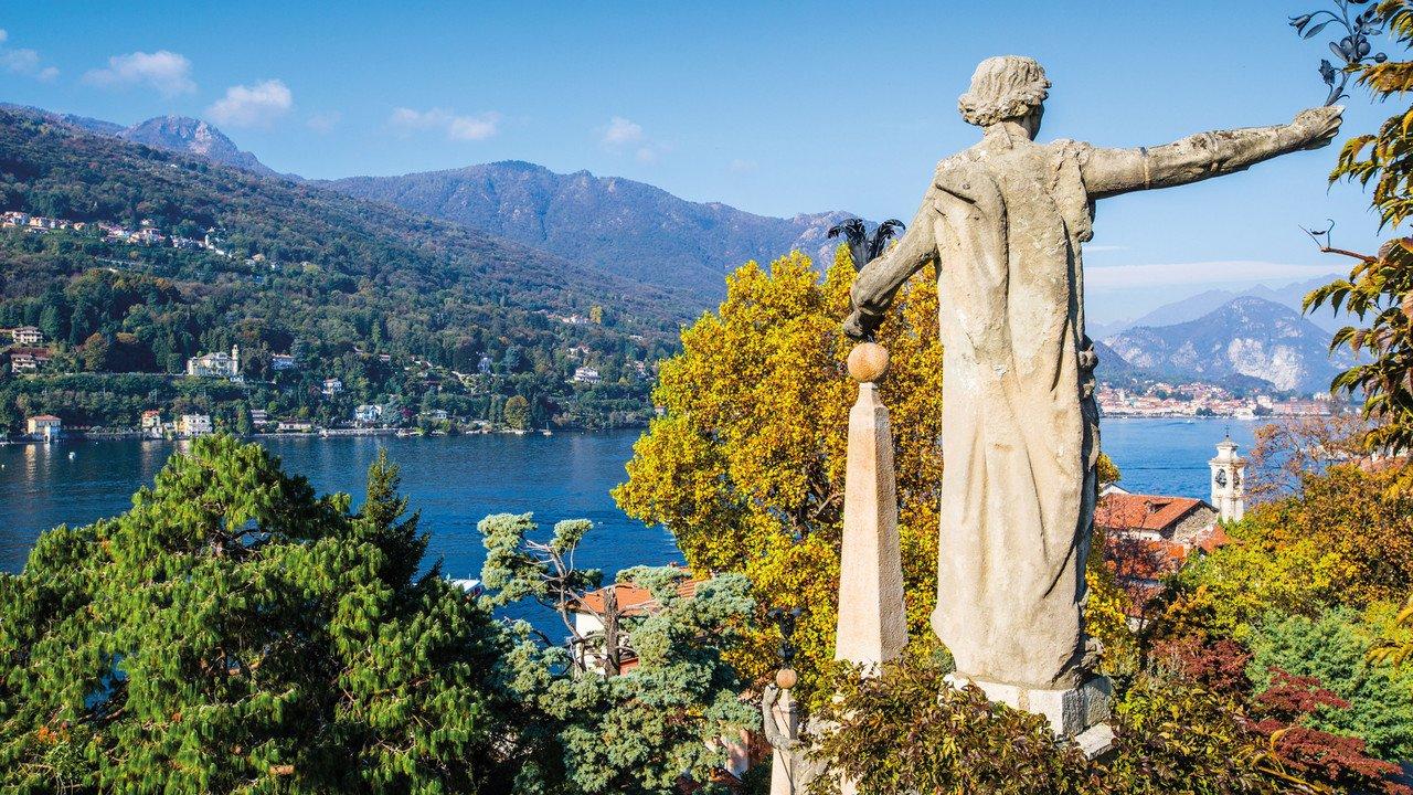 Ein wunderschöner Blick auf den Lago Maggiore