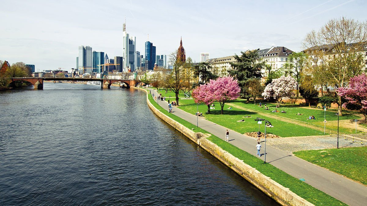 Promenade in Frankfurt am Main