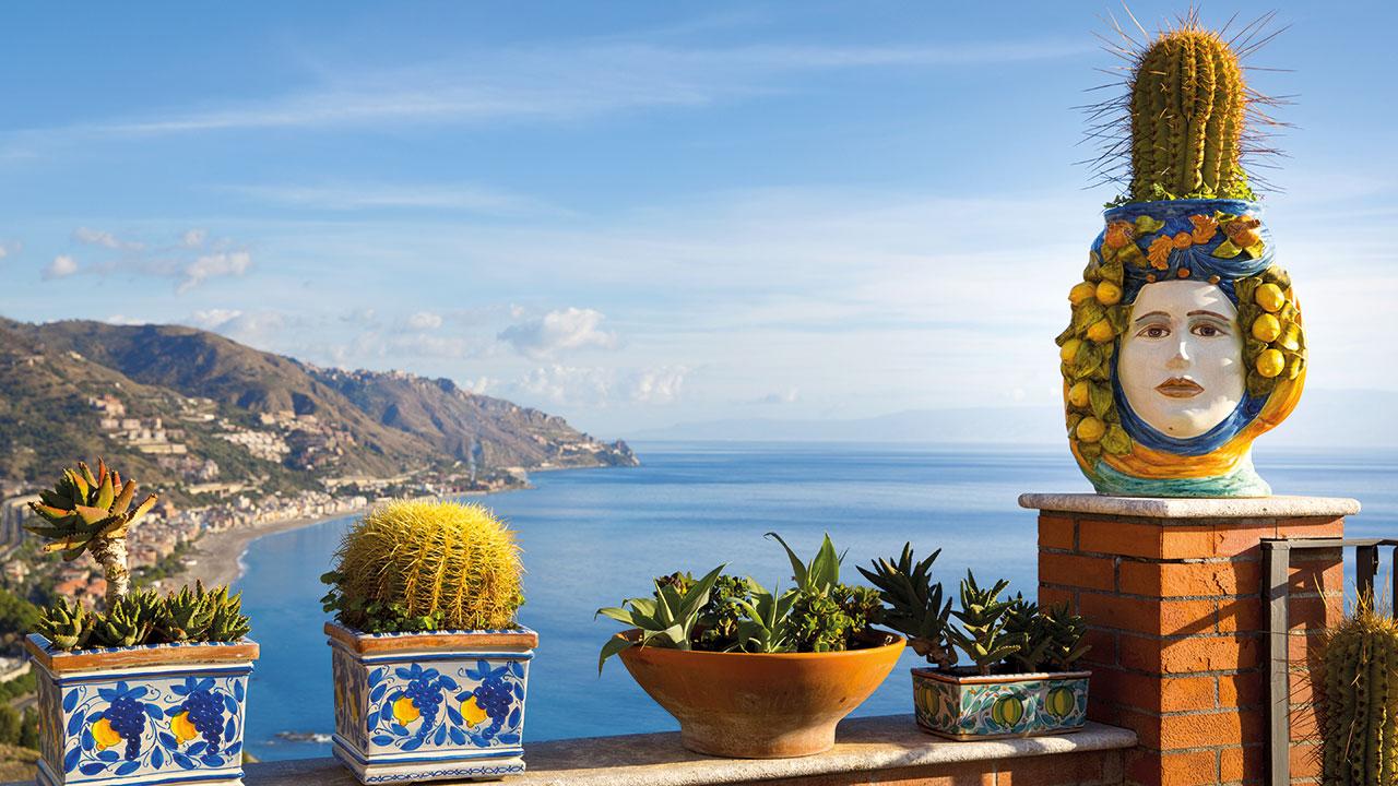 Bucht in Sizilien