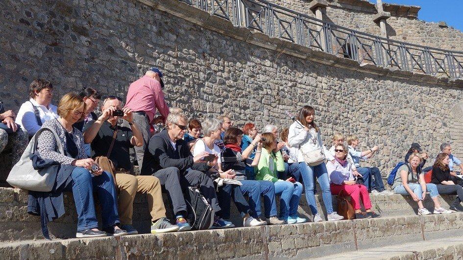 Gruppe in Pompeji