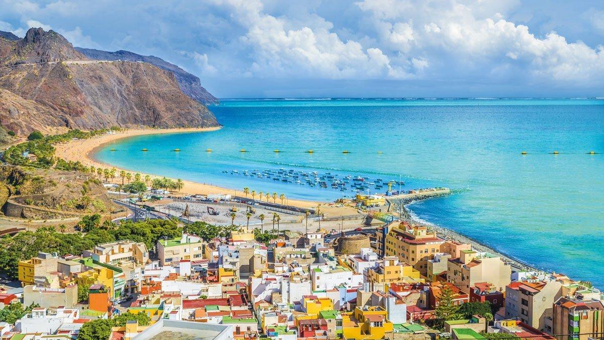 Blick auf den Strand Teneriffas