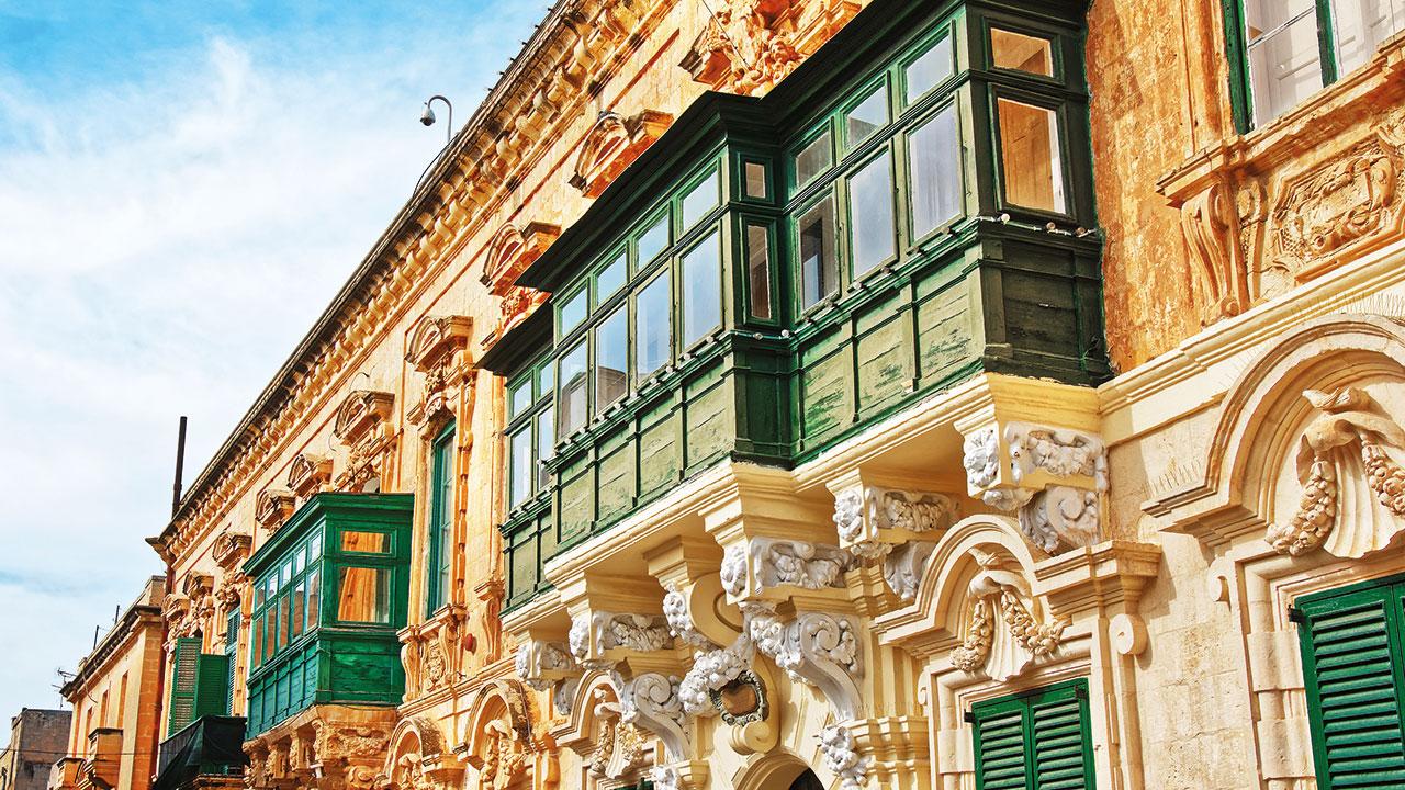 Valletta Häuserfassade