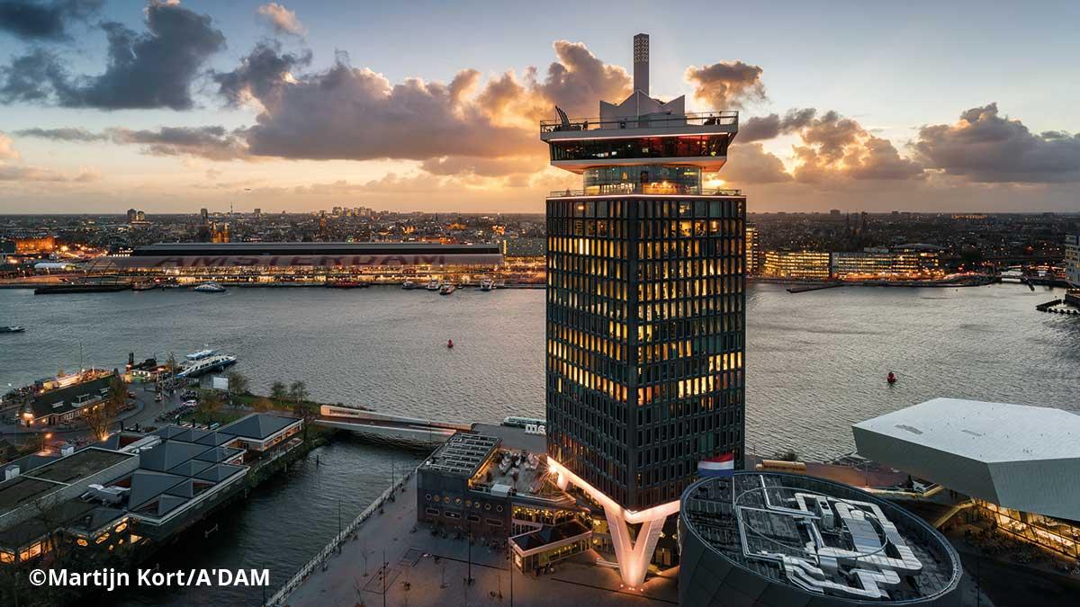 Blick auf den Amsterdam Tower