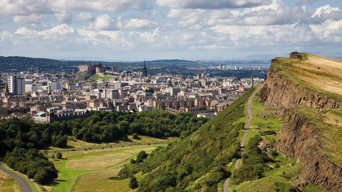 Blick über Schottland vom Artur's Seat