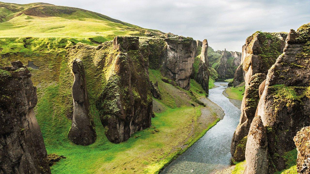 Schlucht auf Island