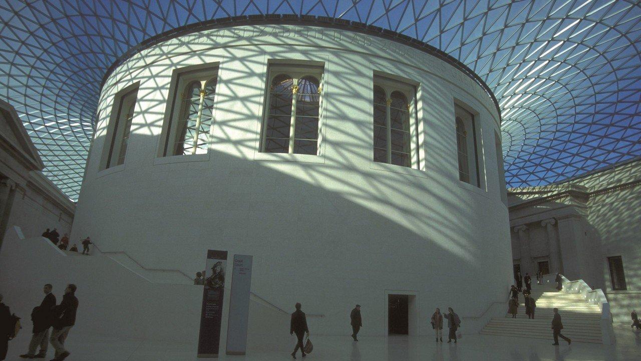 Das kunstvolle Dach des British Museums