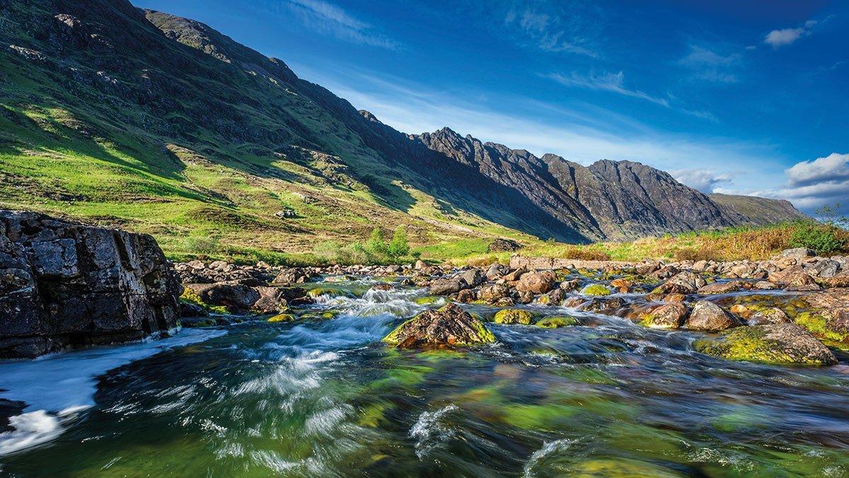 Berge und Flüsse in Schottland