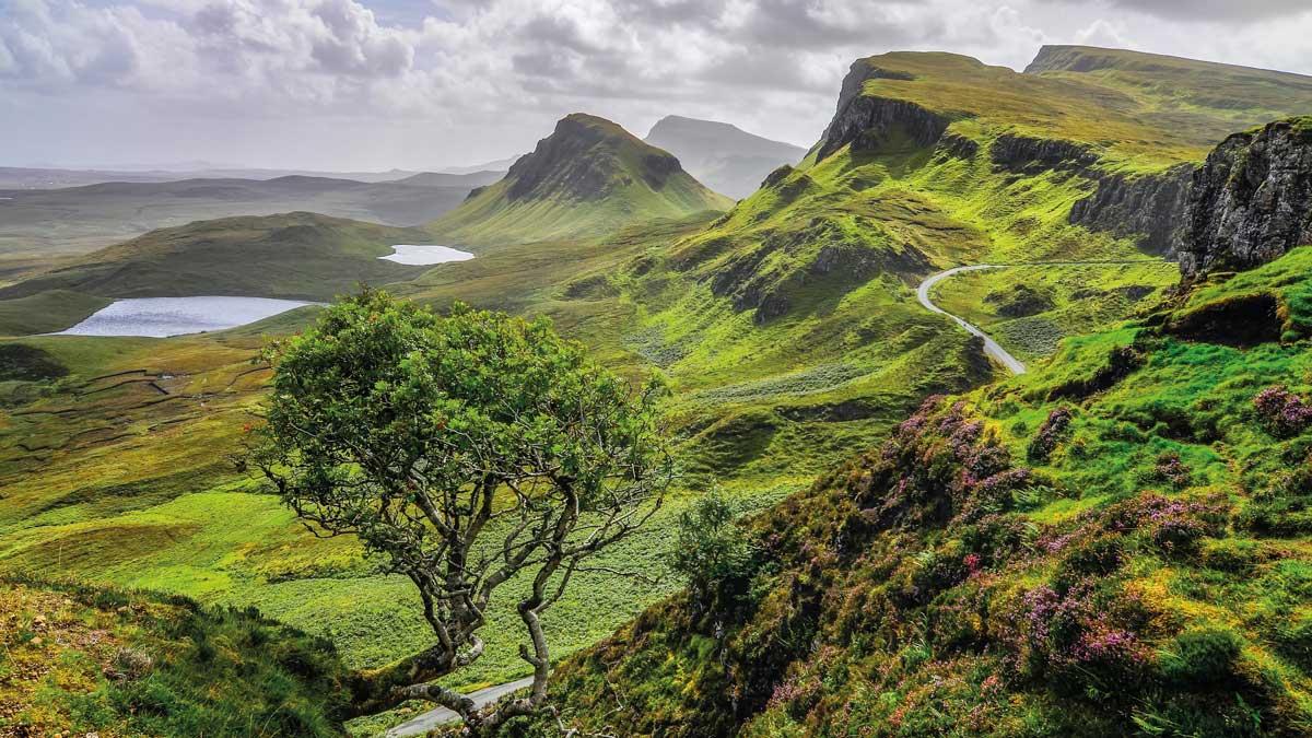 Isle of Skye mit Blick auf Quiraing Berge