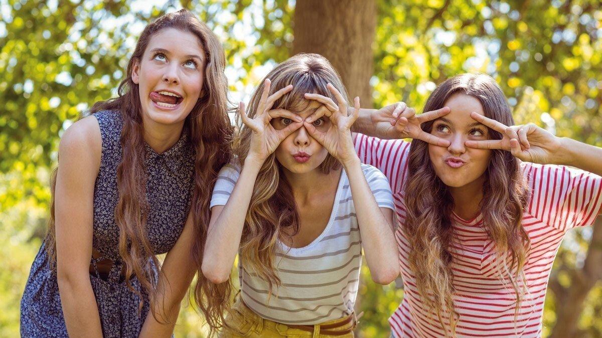 Jugendliche Mädchen in der Umgebung von Braunlage