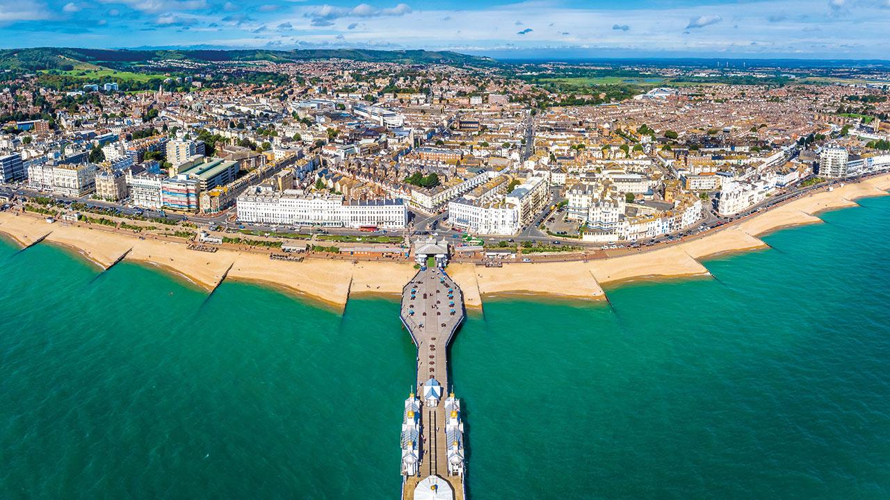 Eastbourne aus der Luft