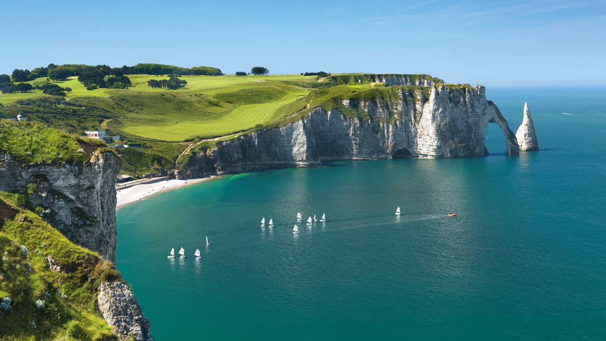 Normandie Kreidefelsen